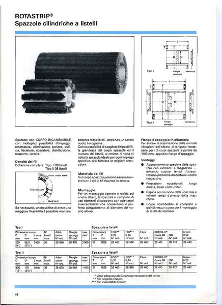 Gruppo  - Spazzole cilindriche a listelli ROTASTRIP - Spazzole cilindriche OSBORN - Camar S.p.A.