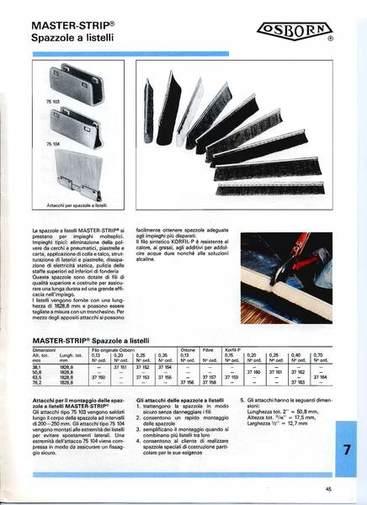 Gruppo  - Listelli MASTER-STRIP per spazzole - Camar S.p.A.