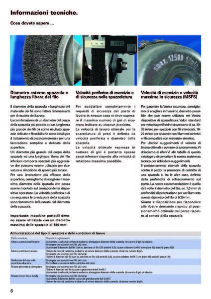 Gruppo  - Informazioni tecniche sulle spazzole - Camar S.p.A.