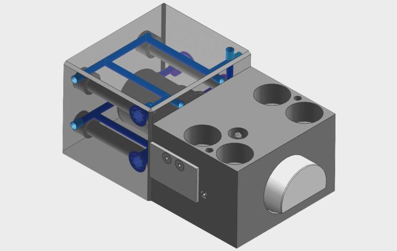 Gruppo WZ22410 - Elemento a cuneo con circuito di raffreddamento per temperature fino a 250° C - Camar S.p.A.