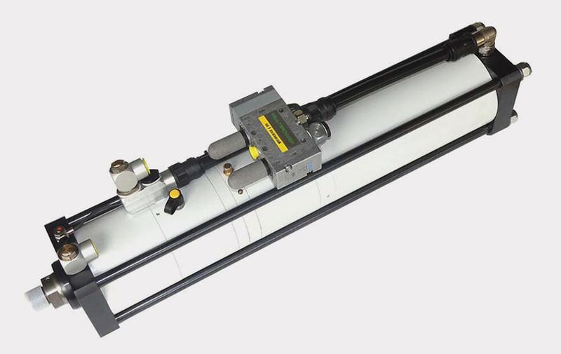 Gruppo  - Forma G corsa corta MULTIPOWER della Farger & Joosten, moltiplicatori di forza pneumo-idraulici - Camar S.p.A.