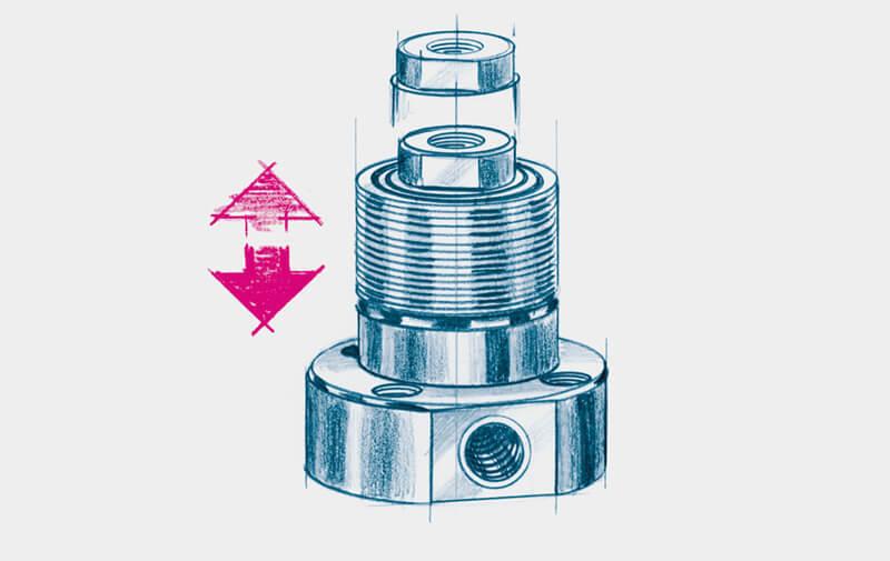Gruppo B - Cilindri a pistone cavo ROEMHELD - Sistemi di bloccaggio – Camar S.p.A.