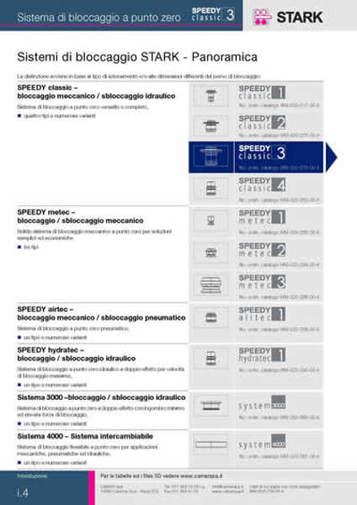Gruppo  - SPEEDY CLASSIC 3 - Indice generale - Camar S.p.A.